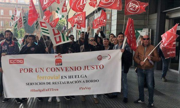 Huelga del personal de ferrovial, responsable de la restauración y logística en trenes de RENFE