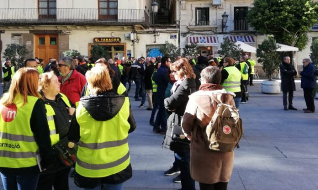 La plantilla de FGV protesta por un convenio justo