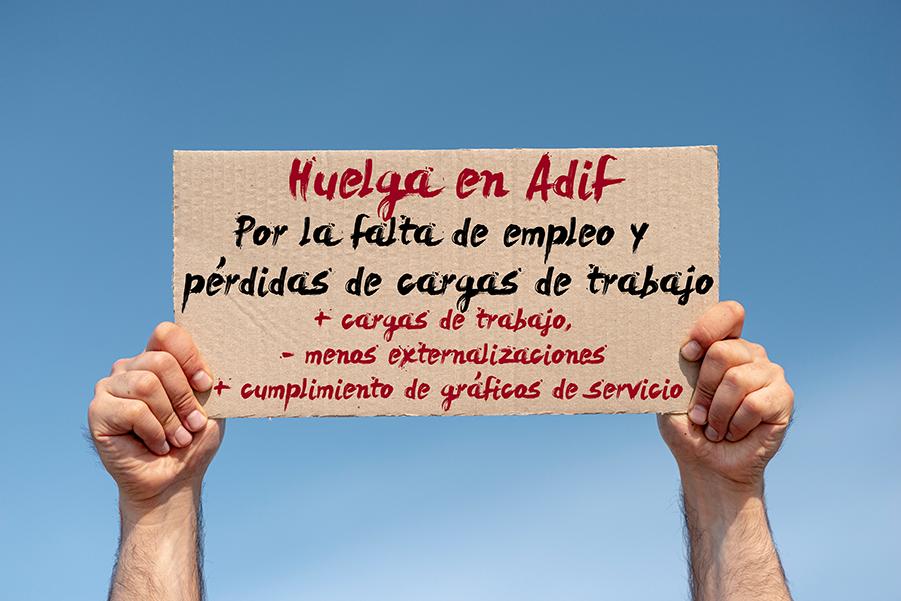 Huelga en Adif por el empleo y modelo de empresa pública